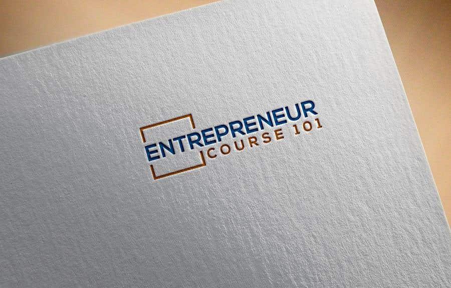 """Inscrição nº 1 do Concurso para Logo Design For """"Entrepreneur Course 101"""""""