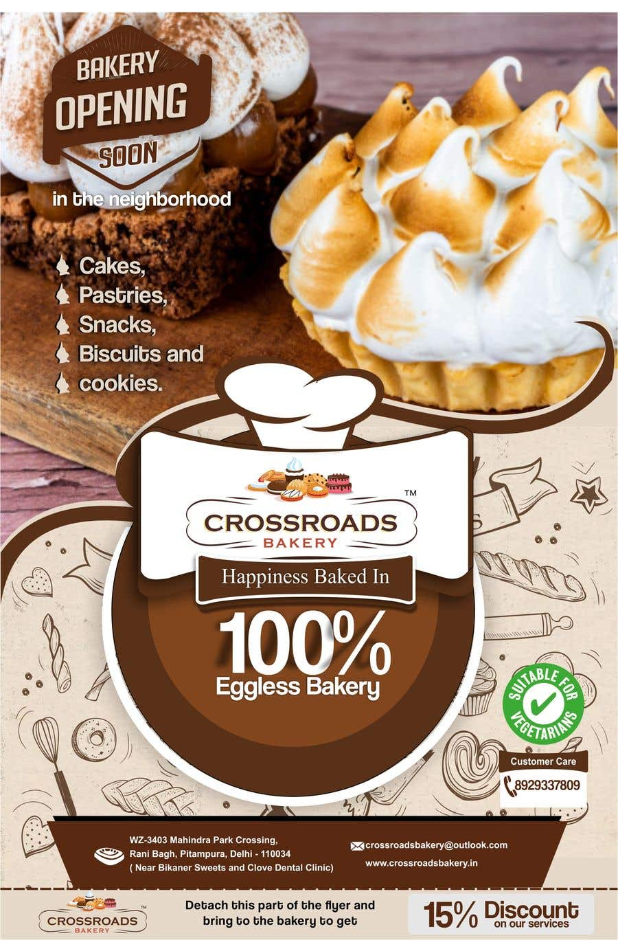 Penyertaan Peraduan #14 untuk Need a flyer for a new opening of a Bakery outlet