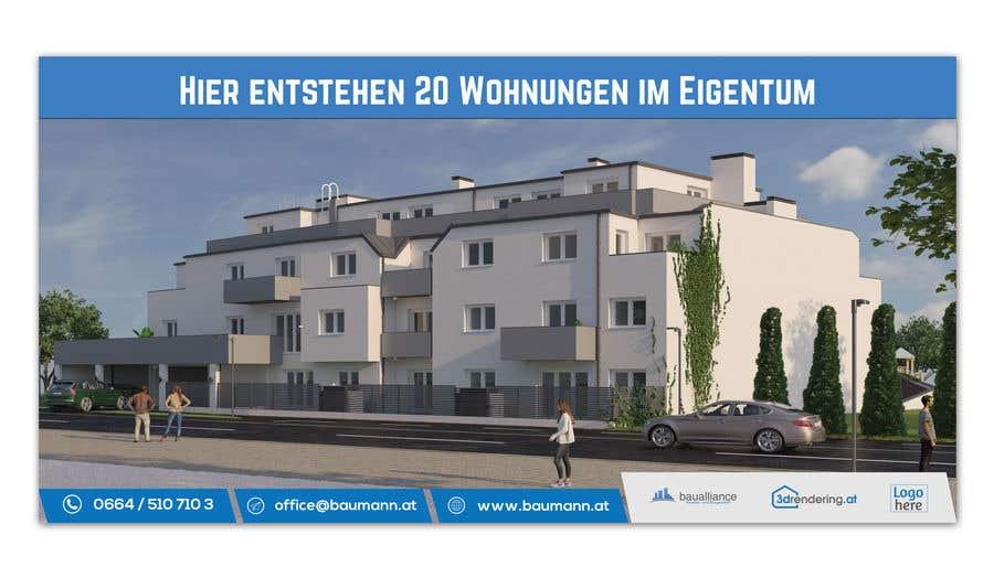 Penyertaan Peraduan #11 untuk Project Image board in front of Building site