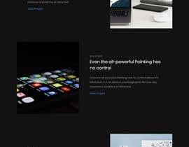 Nro 31 kilpailuun Dark design for personal website käyttäjältä Isha3010