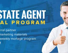 "#72 untuk Need website banner for ""Real Estate Agent Referral Program"" oleh SmartBlackRose"