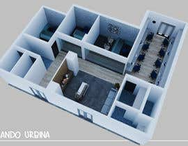 nº 9 pour interior design for Office par Nica3D