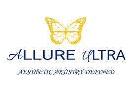 #5 for upscale beauty comp. love butterfly and Allure Ultra font but thicker/bold.would like the A and U in Allure Ultra to be elegant cursive font.slogan's font to be an elegant/easy to read font.colors royal blue and gold.more space between sloganandcomp name by imjangra19