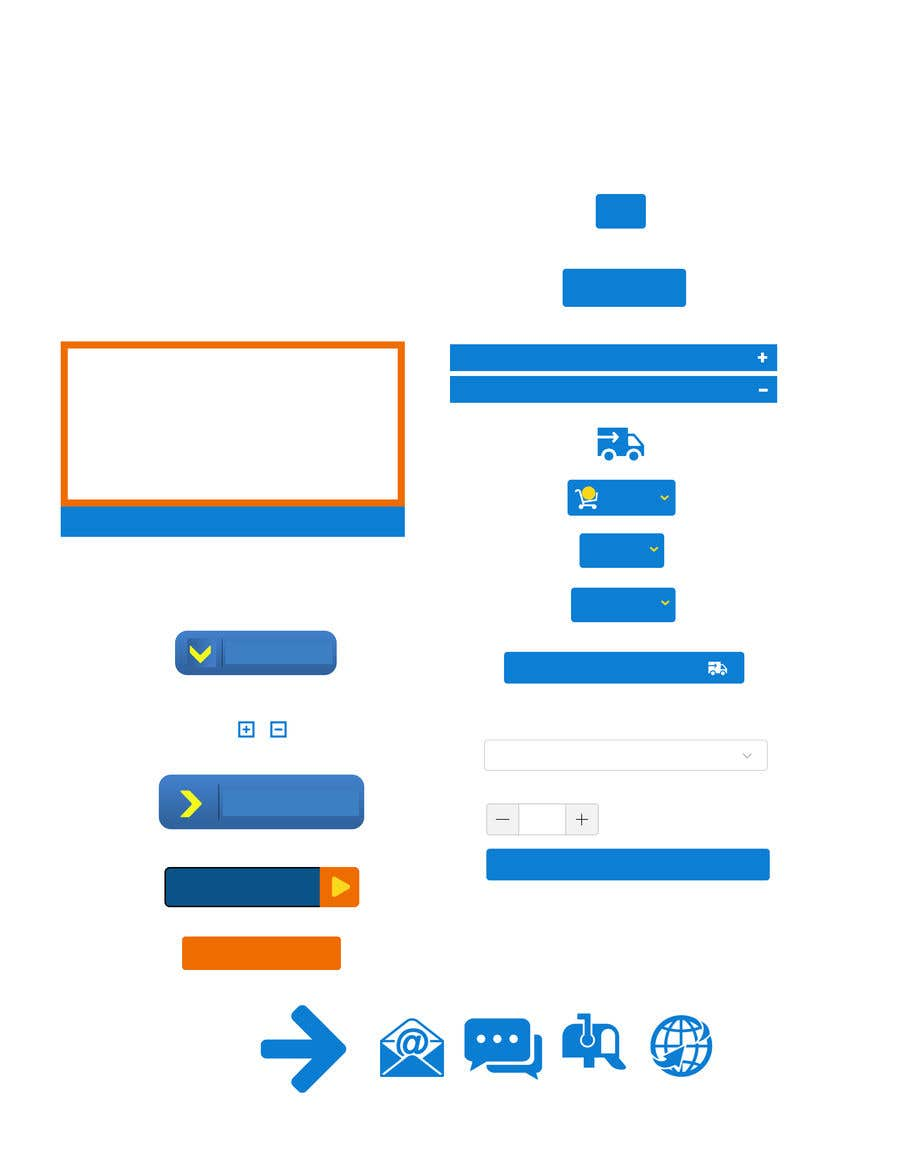 Proposition n°13 du concours Design Some Icons and Buttons for Website