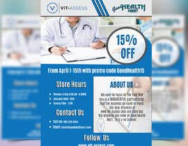 #87 para Advertisement for Health Store flyer por azizkhancpi