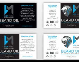 "#21 para I need to design a label for my beard oil brand. The brand is called ""Lion Mane"". por b3ast61"