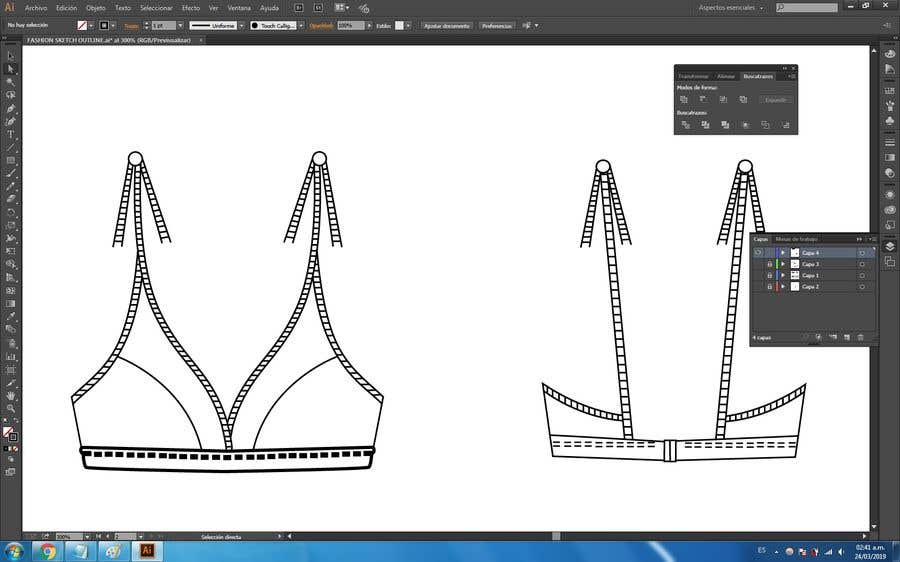 Bài tham dự cuộc thi #7 cho Convert basic drawing into beautiful fashion sketch