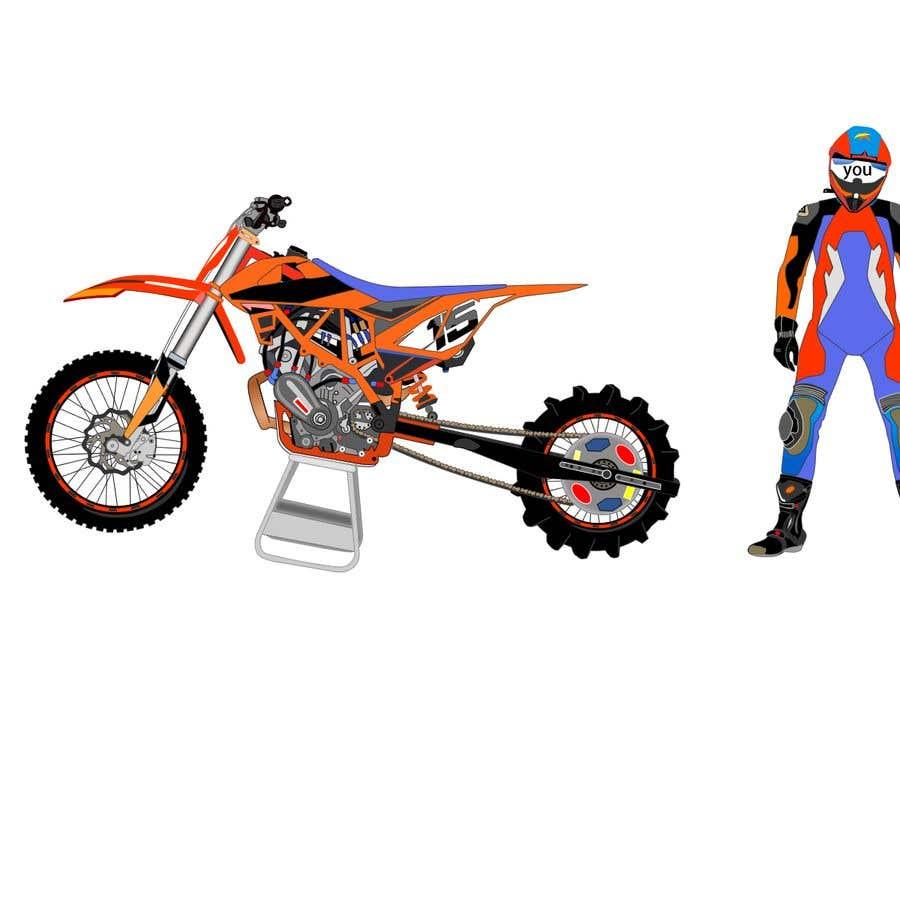 Kilpailutyö #10 kilpailussa Illustration Motorbike