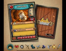 #55 for GUARANTEED :  Design and illustrate a template for my card game by AlekMarquez