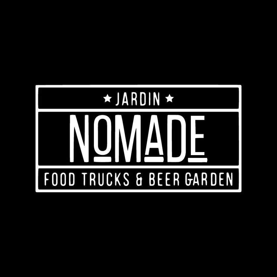 """Contest Entry #41 for A partir del logo adjunto debe crear uno que incluye todo menos """"nro.170"""", """"mallinkrodt"""" cambia por """"nomade"""", """"craft beer"""" cambia por """"beer garden"""" es decir, incluir: jardin, Nomade, food trucks & beer garden"""