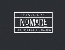 """#45 cho A partir del logo adjunto debe crear uno que incluye todo menos """"nro.170"""", """"mallinkrodt"""" cambia por """"nomade"""", """"craft beer"""" cambia por """"beer garden"""" es decir, incluir: jardin, Nomade, food trucks & beer garden bởi flyhy"""