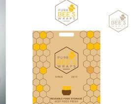 """#106 untuk Design """"Pure Bees Wraps"""" Logo and Box Design oleh hbakbar28"""