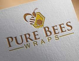 """#99 untuk Design """"Pure Bees Wraps"""" Logo and Box Design oleh mh743544"""