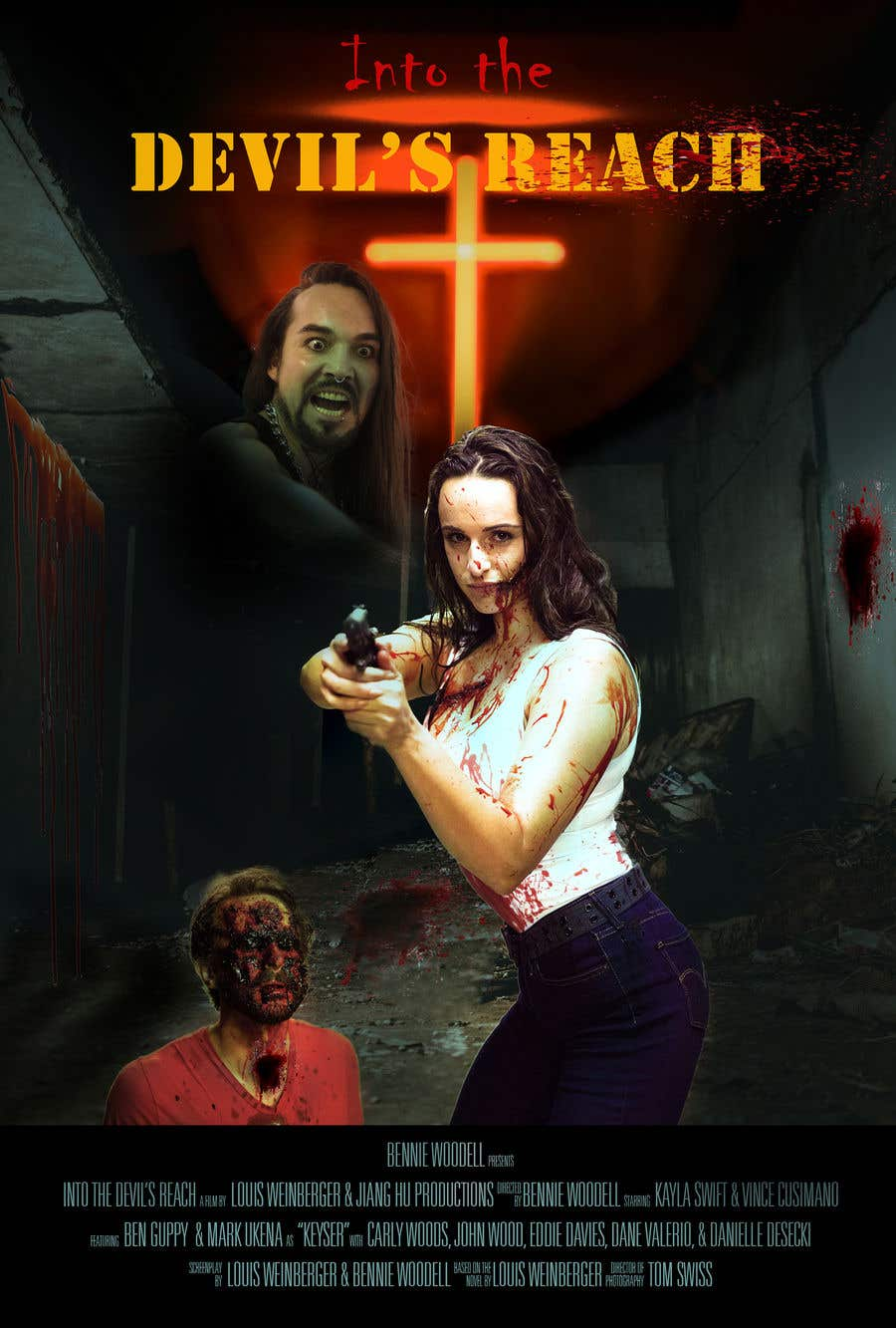 "Kilpailutyö #52 kilpailussa Create a Movie Poster for ""Into the Devil's Reach"""