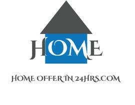 #8 untuk a logo for my business called HomeOfferin24hrs.com.  We look for people that are looking to sell their house fast for cash.  we make a cash offer within 24 hrs after viewing.  we will buy the house in any and as-is condition oleh afrinnahar13983