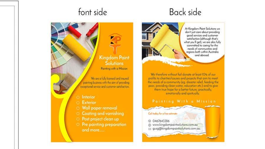 Proposition n°2 du concours Labour Painting flyer and logo
