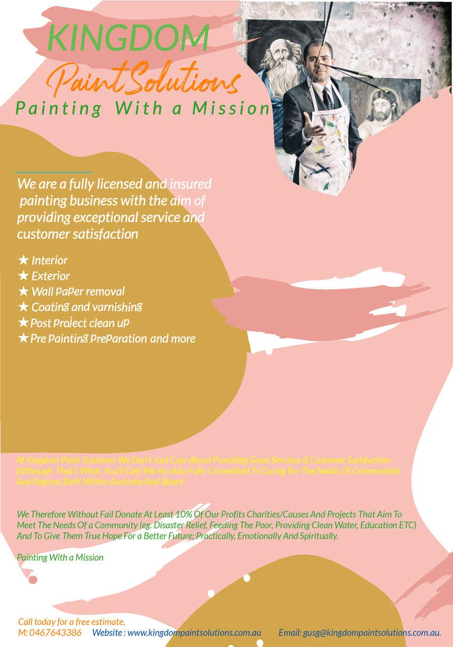 Proposition n°4 du concours Labour Painting flyer and logo