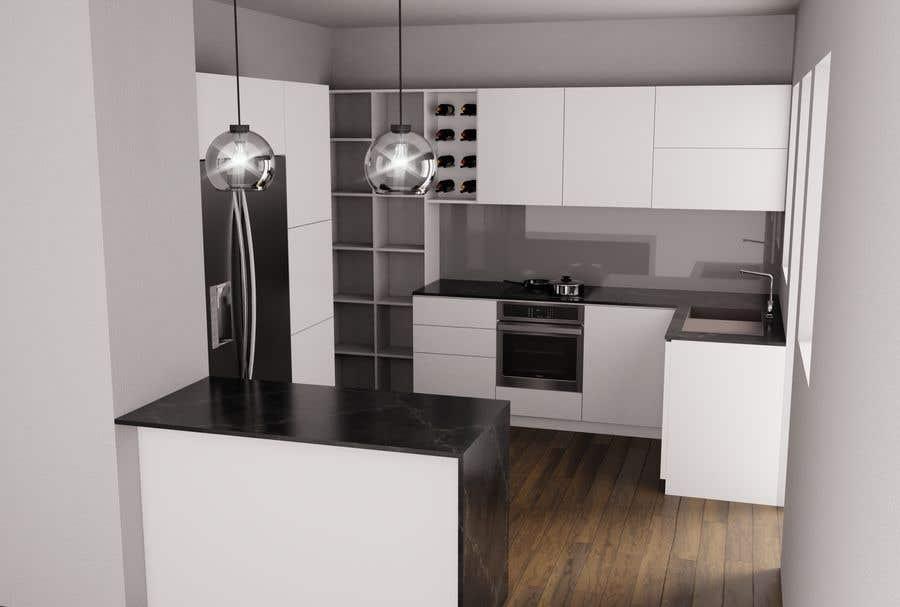 Penyertaan Peraduan #15 untuk Interior Design of our New Kitchen