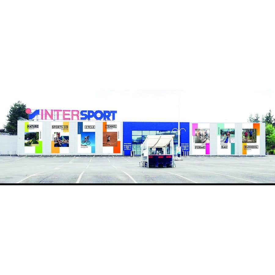 Proposition n°                                        7                                      du concours                                         Nouveaux visuels sur la façade d'un magasin