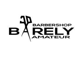 #31 untuk I need a logo for a possible Barber buisness. The name is Barely Amateur. Use a barber design oleh aziz68