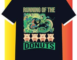 #32 para Design a t-shirt for the 2019 Running of the Donuts por hseshamim9