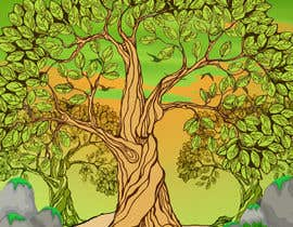 nº 1 pour Illustrate Tree for Card Back in a Game par tanbir220