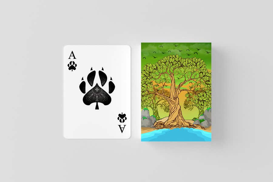 Proposition n°2 du concours Illustrate Tree for Card Back in a Game