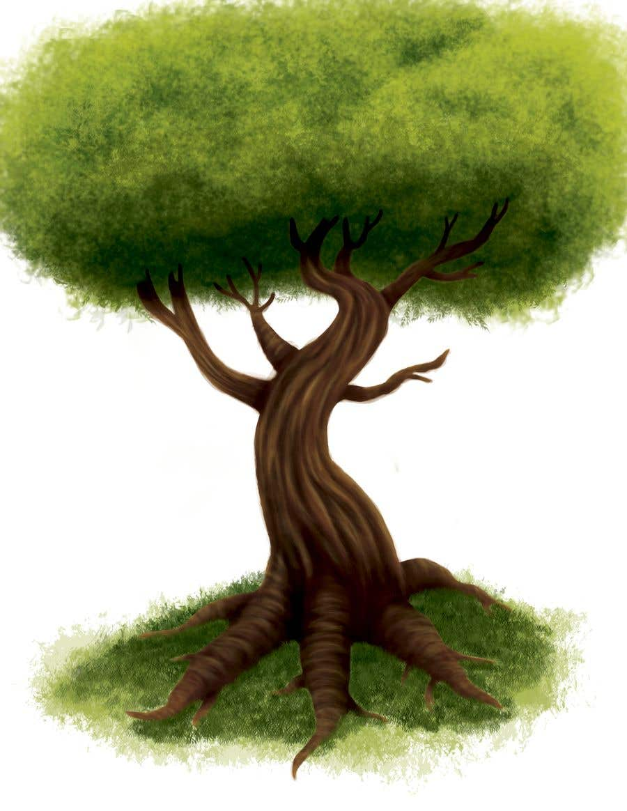 Proposition n°6 du concours Illustrate Tree for Card Back in a Game