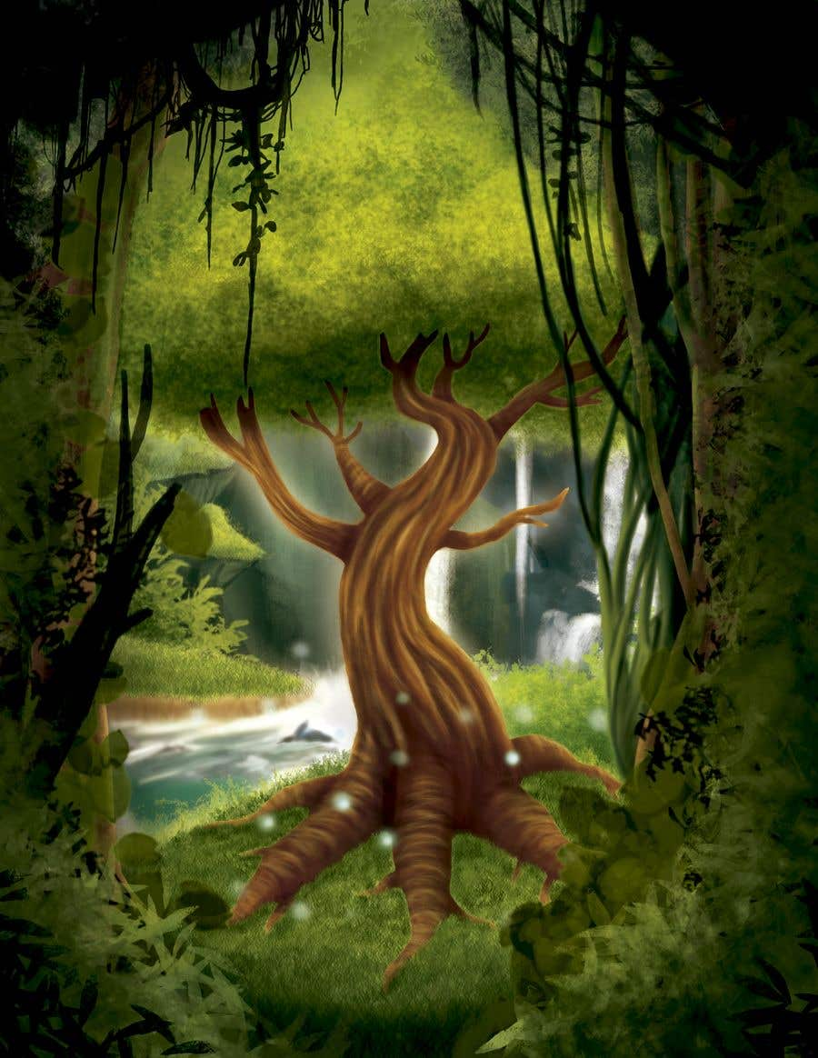 Proposition n°19 du concours Illustrate Tree for Card Back in a Game