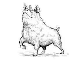 #55 for Illustration of a Pig Unicorn. (Pig with Horn) af srsouvik