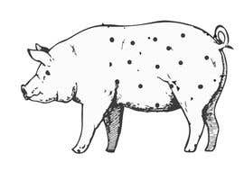 #44 for Illustration of a Pig Unicorn. (Pig with Horn) af htmlsafayet