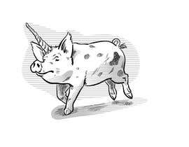 #48 for Illustration of a Pig Unicorn. (Pig with Horn) af paezmiguel569