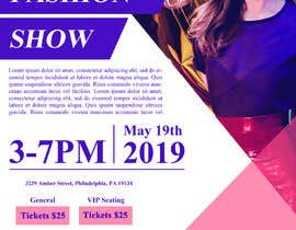 #70 untuk Fashion Show Flyer oleh designsourceit