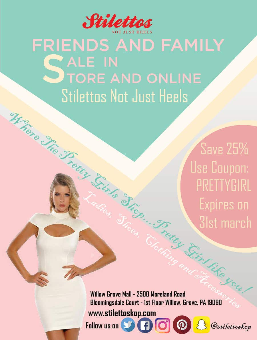 Proposition n°27 du concours Design an flyer for Friends and Family Sale