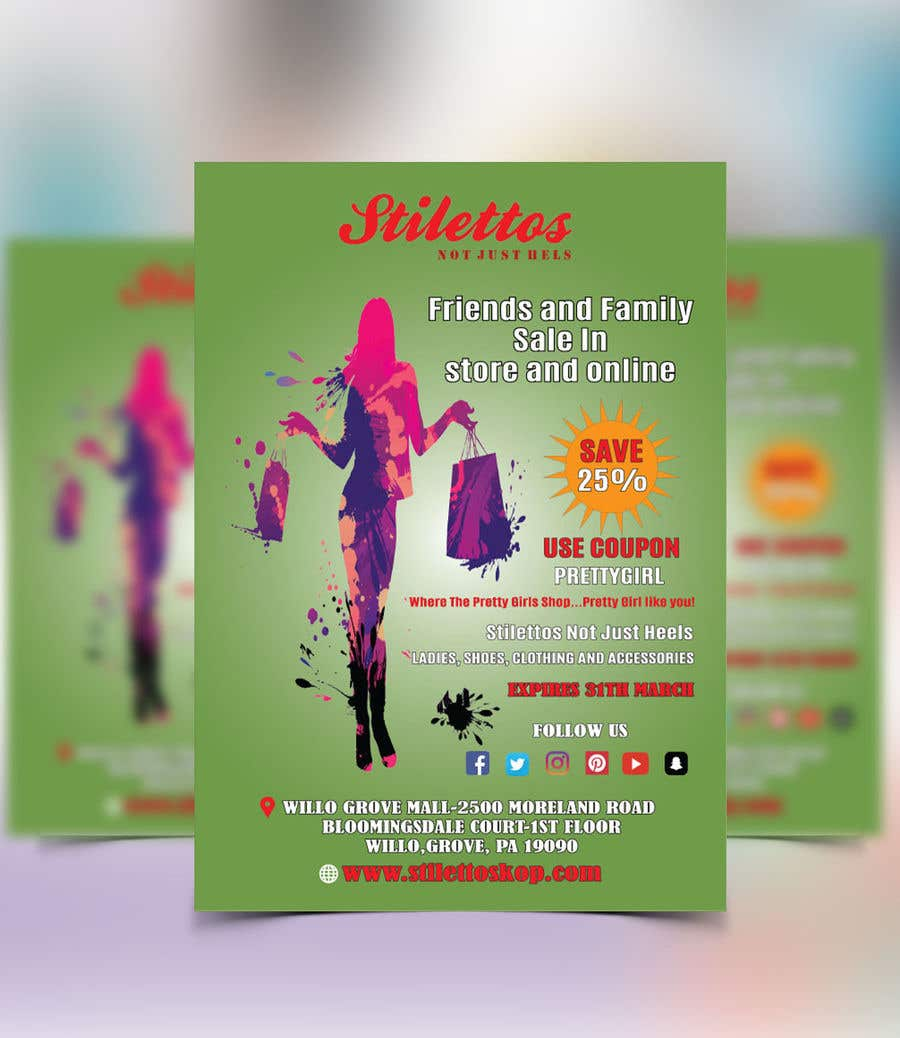 Proposition n°21 du concours Design an flyer for Friends and Family Sale