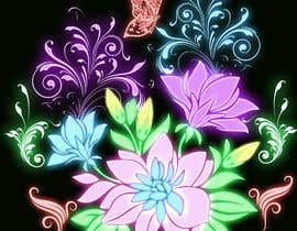 #50 for Create a Neon Flower Design With Lots of Flowers (full image coverage) af mohhomdy