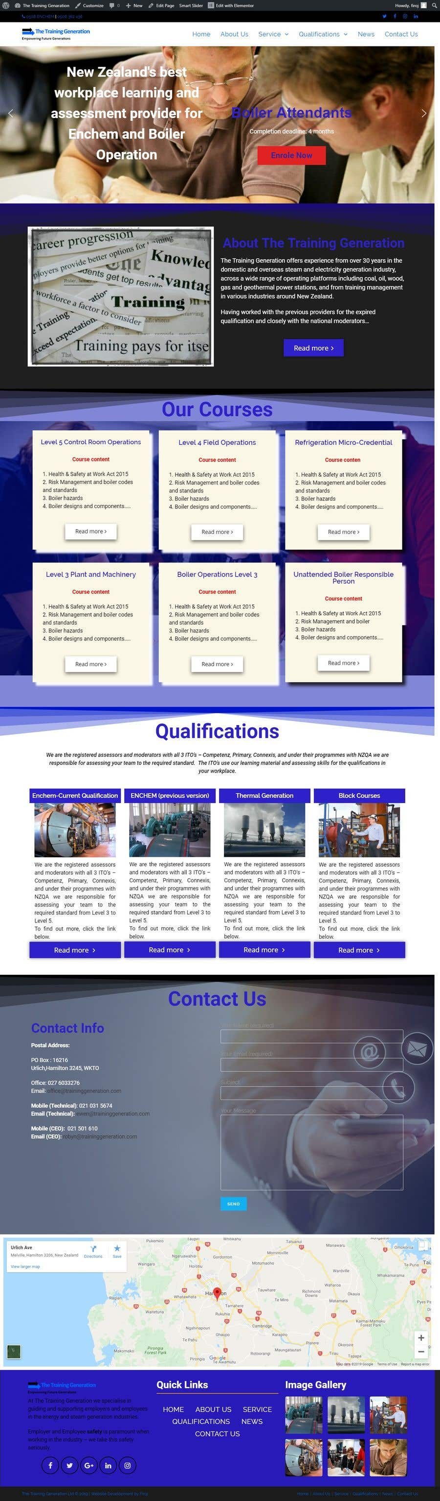 Proposition n°19 du concours Build a wordpress template and website