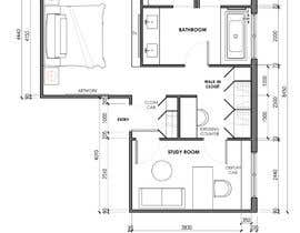 #34 for Redesign floor plan of parents retreat including bathroom, study and walk in wardrobe af JakeTagadan
