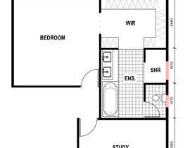 #39 for Redesign floor plan of parents retreat including bathroom, study and walk in wardrobe af arifuzzaman03