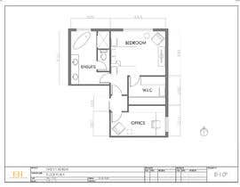 #40 for Redesign floor plan of parents retreat including bathroom, study and walk in wardrobe af EvelyneSHerard