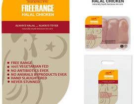 nº 37 pour Graphic Design for US chicken label to be placed on bagged chicken par QuantumTechart