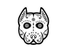 nº 4 pour Sugar Skull Pitbull Design par Partho25061984