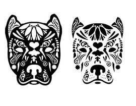 nº 16 pour Sugar Skull Pitbull Design par feramahateasril
