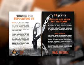 Nro 42 kilpailuun Flyer for a kickstarter project A6 with our logo and product. käyttäjältä mirandalengo