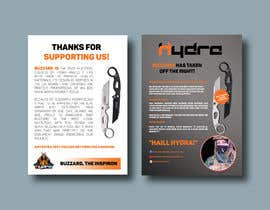 #43 para Flyer for a kickstarter project A6 with our logo and product. por designsourceit