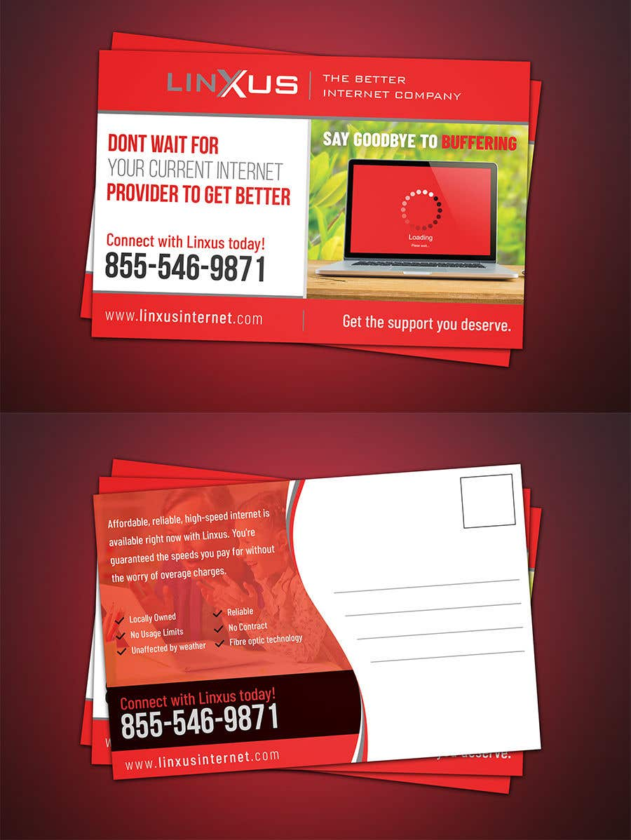Penyertaan Peraduan #27 untuk Create a stunning and mind blowing new marketing postcard for our Rural Internet Service