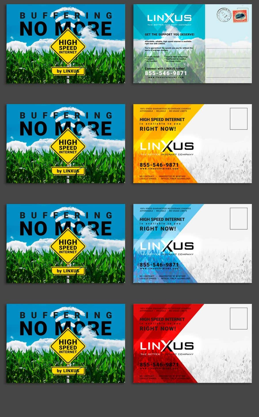 Penyertaan Peraduan #40 untuk Create a stunning and mind blowing new marketing postcard for our Rural Internet Service
