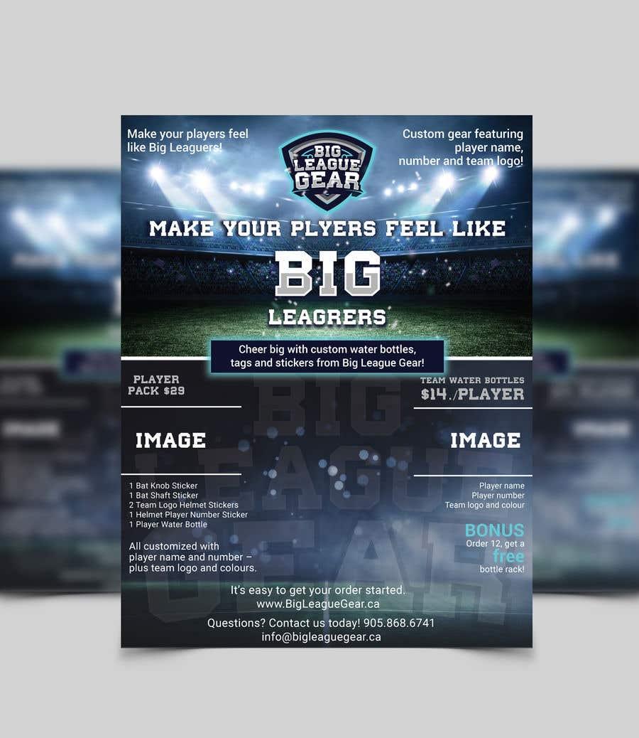 Konkurrenceindlæg #31 for Create a flyer for Big League Gear