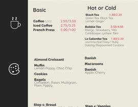 Hadaxation tarafından I need menus asap for my study cafe. First pic with a chart is the items of our menu. Then logos. Then the examples of the ones I liked the design of, which doesn't have to be that way. I look forward to continue working with someone long term. Thank you. için no 23