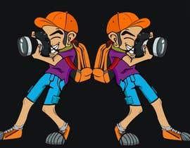 #117 for Photographer Cartoon Character af mdmokibur